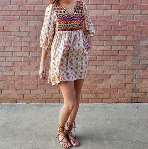 Umgee USA Boho Babydoll Tunic dress